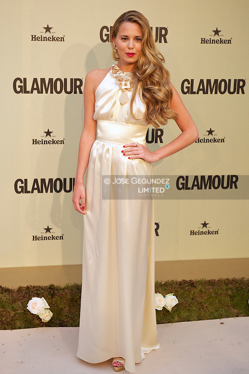 Claudia Ortiz attends Glamour magazine 10th Anniversary party at Italian Embassy in Madrid, Spain