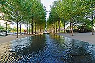 Reflecting pools, Fountain, Battery Park City, Manhattan, New York City, New York, USA