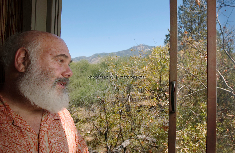 With a view from his tree house, Dr Andrew Weil overlooks his ranch property that borders on the Saguaro National Park in southern Arizona.