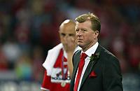Photo: Chris Ratcliffe.<br /> Middlesbrough v Sevilla. UEFA Cup Final. 10/05/2006.<br /> Boro boss Steve McLaren at the end.