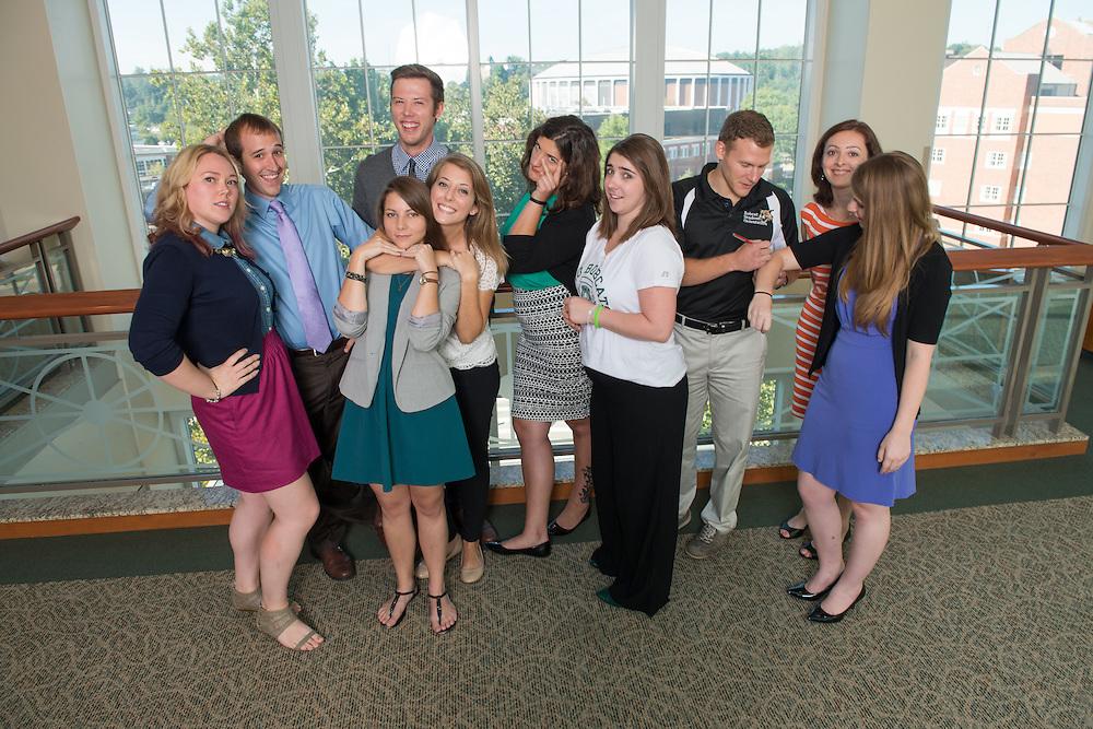 Allen Student Help Center Grad Assistants. © Ohio University / Photo by Ben Siegel