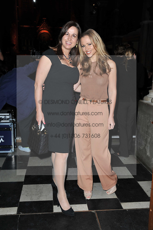 Left to right, SARA DAVENPORT founder of The Haven and singer KIMBERLEY WALSH at a fashion show by Catherine Walker & Co in support of The Haven held at One Mayfair, North Audley Street, London on 18th May 2011.