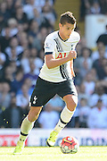 Erik Lamela on the ball during the Barclays Premier League match between Tottenham Hotspur and Crystal Palace at White Hart Lane, London, England on 20 September 2015. Photo by Alan Franklin.