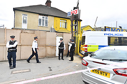 June 5, 2017 - London, London, United Kingdom - Image ©Licensed to i-Images Picture Agency. 05/06/2017. London, United Kingdom. London Terror attack - Day Three.  Police officers raid a house in Dagenham, East London, in connection with the terror attack on London Bridge on Saturday night.  Picture by Andrew Parsons / i-Images (Credit Image: © Andrew Parsons/i-Images via ZUMA Press)