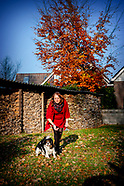 Luinjeberd Dietie Mol en haar hond