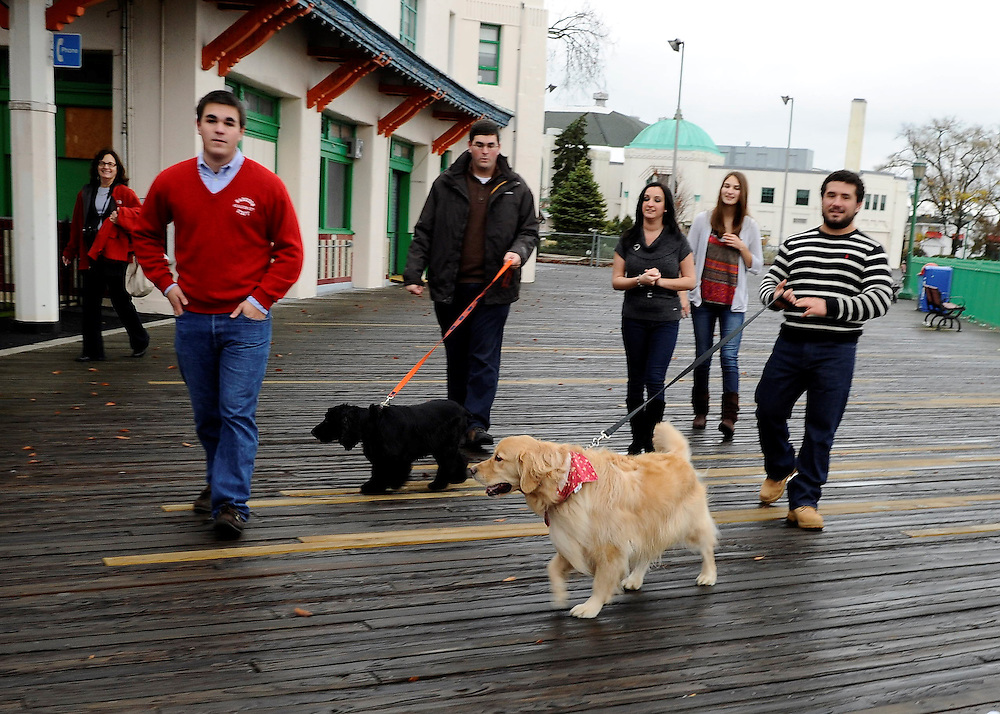 A Family's Thanksgiving photos on the pier at Rye Playland.....