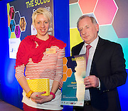 27/01/2014SCCUL Enterprise Award<br /> ICT<br /> One To Watch<br /> Mission Possible founded by Tara Dalrymple and presented with her prize by Tom O Connor SCCUL board . <br /> Online marketplace that allows posters to outsource small jobs/ tasks to their local neighbourhood. <br /> Clients name the task, rice and the pre- approved/ certified agents complete the job. <br /> Users bid on how much they want to earn, with the most suitable user winning, based on price, location or relevant skill set.<br />  <br /> Photo:Andrew Downes