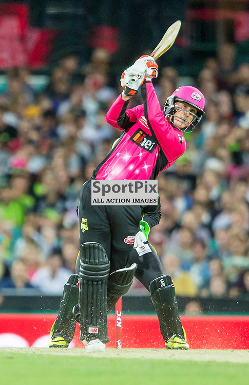 KFC Big Bash League T20 2015-16 , Sydney Sixers v Sydney Thunder, SCG; 16 January 2016<br /> Sydney Sixers Nic Maddinson 6 runs