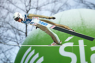 Poland, Wisla Malinka - 2017 November 19: Piotr Zyla from Poland soars through the air during FIS Ski Jumping World Cup Wisla 2017/2018 - Day 3 at jumping hill of Adam Malysz on November 19, 2017 in Wisla Malinka, Poland.<br /> <br /> Mandatory credit:<br /> Photo by © Adam Nurkiewicz<br /> <br /> Adam Nurkiewicz declares that he has no rights to the image of people at the photographs of his authorship.<br /> <br /> Picture also available in RAW (NEF) or TIFF format on special request.<br /> <br /> Any editorial, commercial or promotional use requires written permission from the author of image.