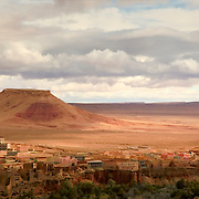 Moroccan vIllage near oasis