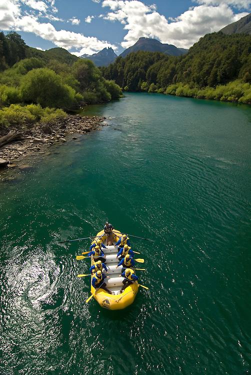 Rafting the Futaleufu River in Chile.