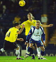 Photo: Paul Greenwood.<br />Bury v Hereford United. Coca Cola League 2. 30/01/2007. Hereford's Trent McClenahan clears past Andy Bishop