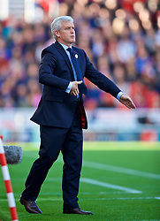 STOKE-ON-TRENT, ENGLAND - Saturday, September 9, 2017: Stoke City's manager Mark Hughes during the FA Premier League match between Stoke City and Manchester United at the Bet365 Stadium. (Pic by David Rawcliffe/Propaganda)