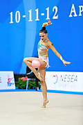 Berezko Jana during qualifying at ball in Pesaro World Cup 10 April 2015.<br />