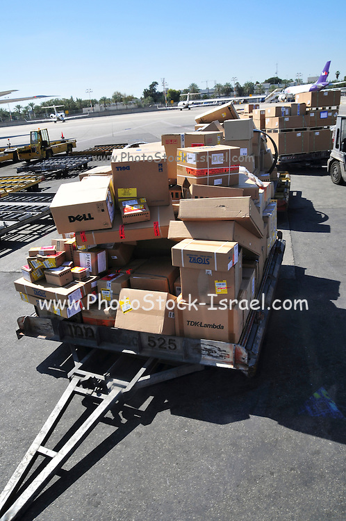 Israel, Ben-Gurion international Airport Cargo transport and baggage loading area