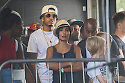 Jada Pinkett Smith awaits Jaden and Willow Smith - Wireless festival, Finsbury Park, London, UK