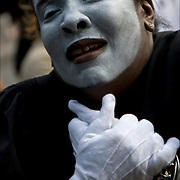 African American mime performing group Blue Mims, Gensis Project Ministries of UFC Brooklyn