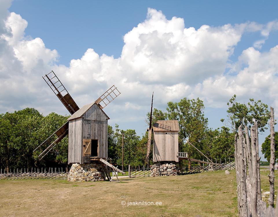 Angla windmills in Saaremaa, Estonia