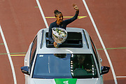 Nafissatou Thiam (Belgium) Heptathlete during Opening Ceremony of the IAAF Diamond League event at the King Baudouin Stadium, Brussels, Belgium on 6 September 2019.