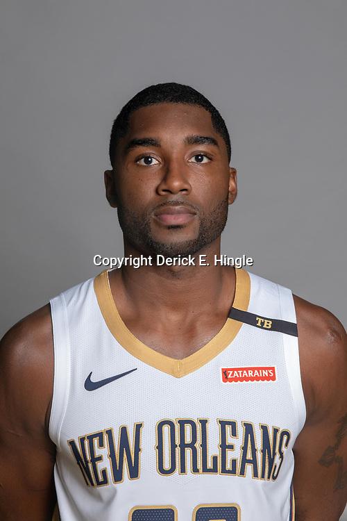 Sep 24, 2018; New Orleans, LA, USA; New Orleans Pelicans guard Solomon Hill (55) poses for a portrait during Media Day at Ochsner Performance Center. Mandatory Credit: Derick E. Hingle-USA TODAY Sports