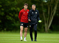 WREXHAM, WALES - Wednesday, June 5, 2019: Wales' manager Ryan Giggs and Tom Lockyer during a training session at Colliers Park ahead of the UEFA Euro 2020 Qualifying Group E match between Croatia and Wales. (Pic by David Rawcliffe/Propaganda)