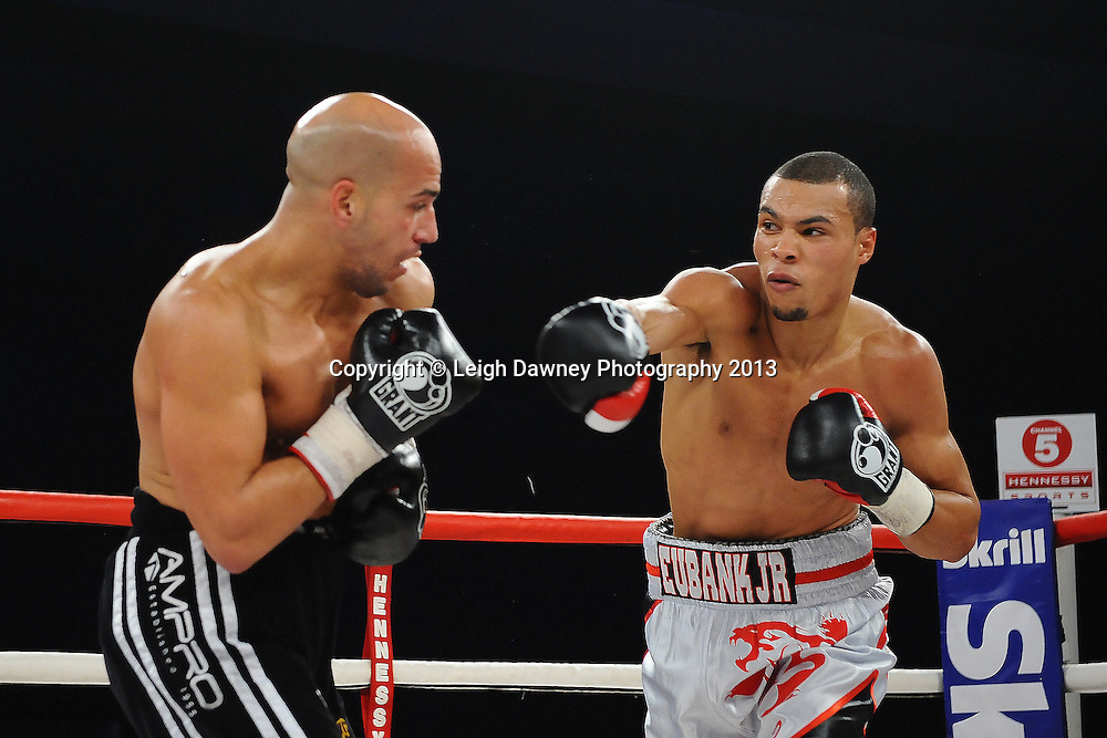 Chris Eubank Jnr boxing Frankie Borg in a Middleweight contest. Glow, Bluewater, Kent, UK. Hennessy Sports © Leigh Dawney Photography 2013.