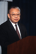WASHINGTON, DC - September 11: Hong Kong Chief Exec. Tung Chee Hwa speaks at the U.S. Chamber of Commerce in Washington, DC. September 11, 1997  (Photo RIchard Ellis)