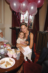 TRINNY WOODALL and her daughter LYLA ELICHAOFF at a children's ballet workshop and tea party to celebrate the world premiere of 'Angelina's Star Performance' Angelina Ballerina's first real life ballet hosted by the National Ballet at the New Wimbledon Theatre, London SW19 on 6th September 2007.<br />