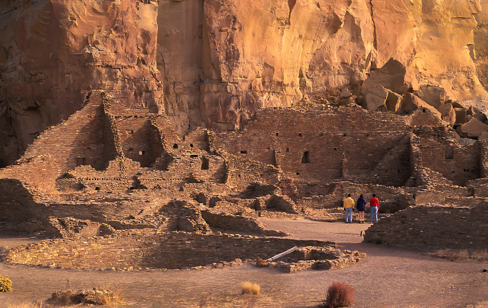 Visitors at Pueblo Bonito, Chaco Culture National Historical Park, New Mexico.