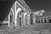 El Morro courtyard walls