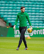 4th April 2018, Celtic Park, Glasgow, Scotland; Scottish Premier League football, Celtic versus Dundee; Celtic goalkeeper Craig Gordon returns to action after being out injured for two months
