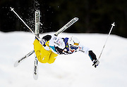 Japan's Miki Ito completes a jump during the qualifying round for the World Cup freestyle moguls at  Deer Valley Resort, Saturday, Jan. 16, 2010, in Park City, Utah. (AP Photo/Colin E Braley).