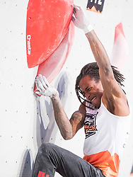 Mickael Mawem (FRA) at Fnal of Climbing event - Triglav the Rock Ljubljana 2018, on May 19, 2018 in Congress Square, Ljubljana, Slovenia. Photo by Urban Urbanc / Sportida