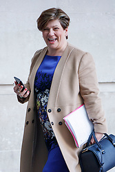 © Licensed to London News Pictures. 14/05/2017. London, UK. Shadow Foreign Secretary EMILY THORNBERRY arrives at BBC Broadcasting House in London to appear on The Andrew Marr show on BBC One on Sunday 14 May 2017. Photo credit: Tolga Akmen/LNP