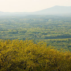 View of Mount Monadnock from Mount Wachusett in Mount Wachusett State Park.  Massachusetts.