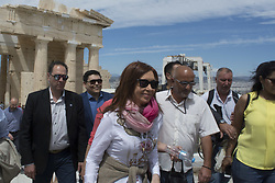 May 9, 2017 - Athens, Greece - CRISTINA ELISABET FERNANDEZ DE KIRCHNER, former president of Argentina, visits the Acropolis during her stay in Athens, invited by Greece's governing party SYRIZA. (Credit Image: © Nikolas Georgiou via ZUMA Wire)