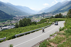 Leah Thomas (USA) during Stage 6 of 2019 Giro Rosa Iccrea, a 12.1 km individual time trial from Chiuro to Teglio, Italy on July 10, 2019. Photo by Sean Robinson/velofocus.com