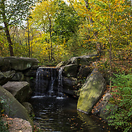 The Ravine waterfall in the North Woods of Central Park