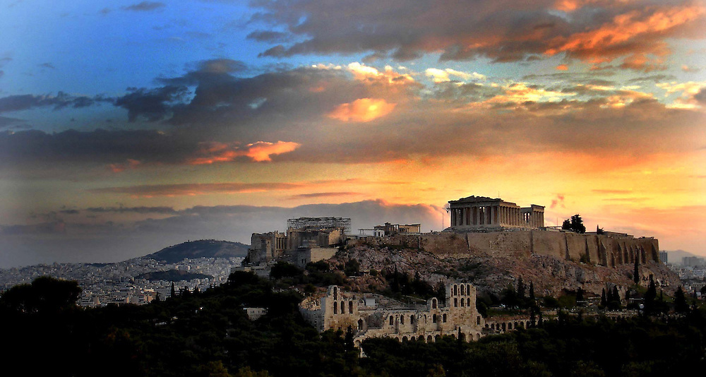 Acropolis at Sunrise in Athens, Greece.