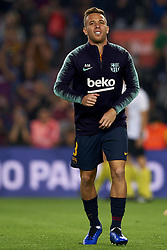 October 20, 2018 - Barcelona, Catalonia, Spain - Arthur Melo during the warm-up before the week 9 of La Liga match between FC Barcelona and Sevilla FC at Camp Nou Stadium in Barcelona, Spain on October 20, 2018. (Credit Image: © Jose Breton/NurPhoto via ZUMA Press)
