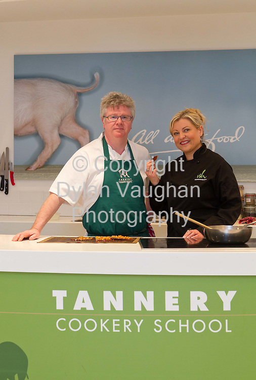 9/1/2012.Paul Flynn and Rozanne Stevens at the Tannery Cookery School in Dungarvan County Waterford..Picture Dylan Vaughan...