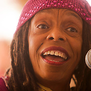 Alicia Inshiradu sings Sunday September 21, 2014 during a celebration of International Day of Peace sponsored by Grandmothers for Peace at Hugh MacRae Park in Wilmington, N.C. (Jason A. Frizzelle)