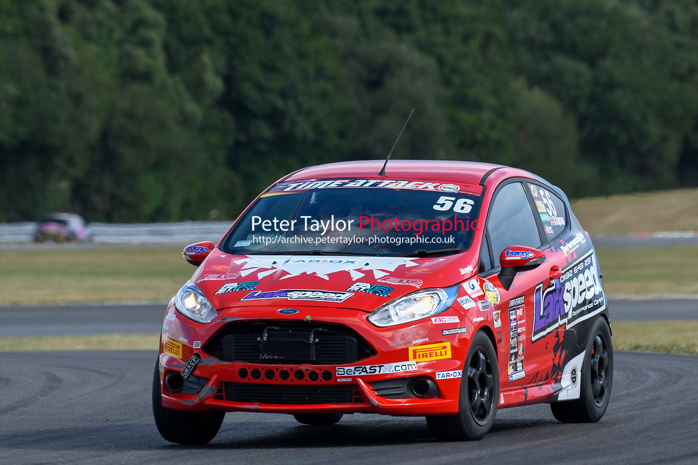 #56 Ben COPSON Ford Fiesta ST - Larkspeed Performance  during 2018 MSA Time Attack Championship - FastR Clubman / Pocket Rocket / Classic & Retro  as part of the Time Attack - Round 4 - Oulton Park  at Oulton Park, Little Budworth, Cheshire, United Kingdom. July 28 2018. World Copyright Peter Taylor/PSP. Copy of publication required for printed pictures.