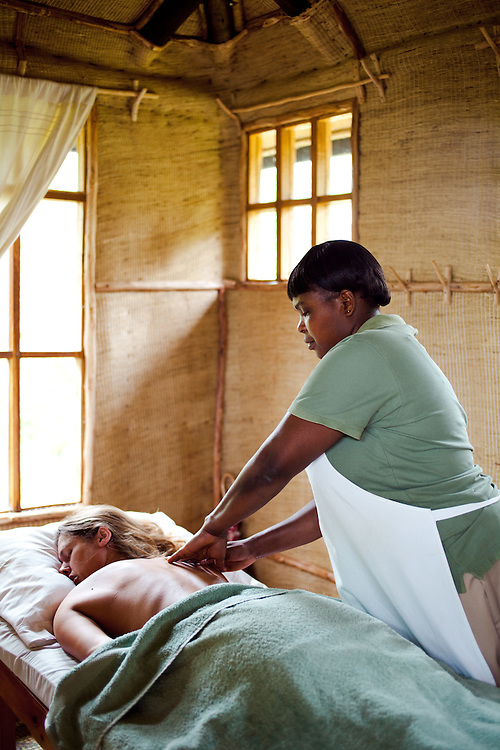 The spa room, Virunga Lodge, Rwanda