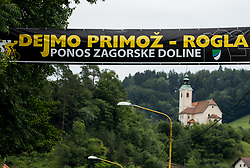 Supporters of Primoz Roglic of Team Lotto NL Jumbo in Izlake during 3rd Stage of 25th Tour de Slovenie 2018 cycling race between Slovenske Konjice and Celje (175,7 km), on June 15, 2018 in  Slovenia. Photo by Vid Ponikvar / Sportida