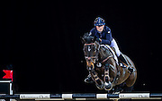 HONG KONG - FEBRUARY 19:  Jessica Mendoza of Great Britain rides Spirit T during The Hong Kong Jockey Club Trophy as part of the 2016 Longines Masters of Hong Kong on February 19, 2016 in Hong Kong, Hong Kong.  (Photo by Aitor Alcalde Colomer/Getty Images)
