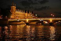 Paris Napoleon bridge over the Seine