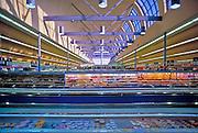 Huge, American, Food, Produce, Super, Market, Shelves, Stacked, Display