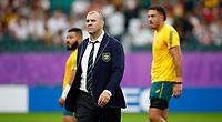 Rugby Union - 2019 Rugby World Cup - Quarter-Final: England vs. Australia<br /> <br /> Michael Cheika head coach of Australia at Oita Stadium, Oita Prefecture.<br /> <br /> COLORSPORT/LYNNE CAMERON
