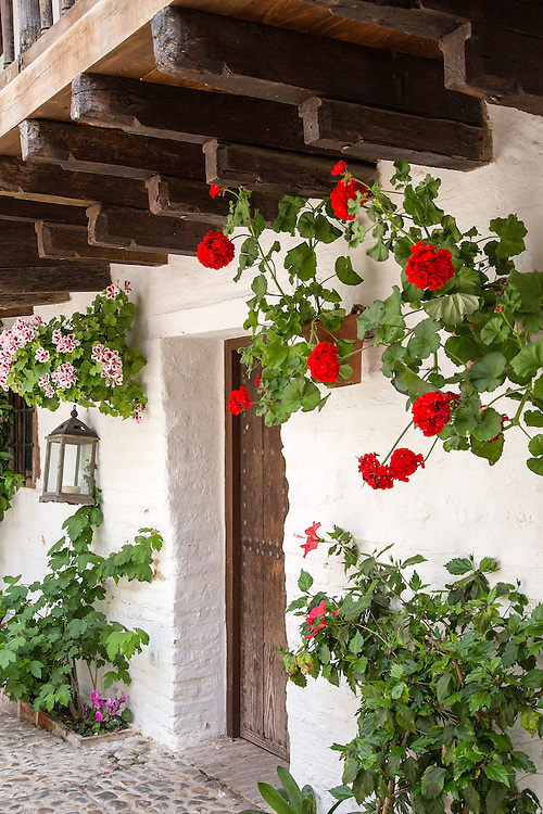 A doorway in the town of Cordoba in Andalucia, Spain